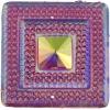 Glitz Sew-on Stone 10pcs Square 40mm Pink Aurora Borealis
